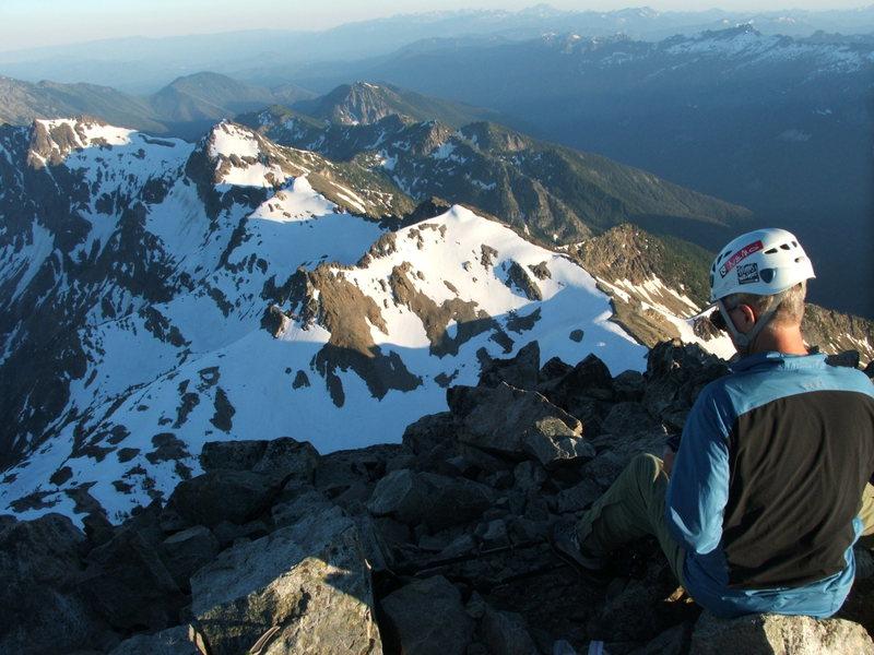 Craig Dixon on the summit of Mt. Maude<br>