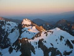 Rock Climbing Photo: Sunset viewed from Mt. Maude