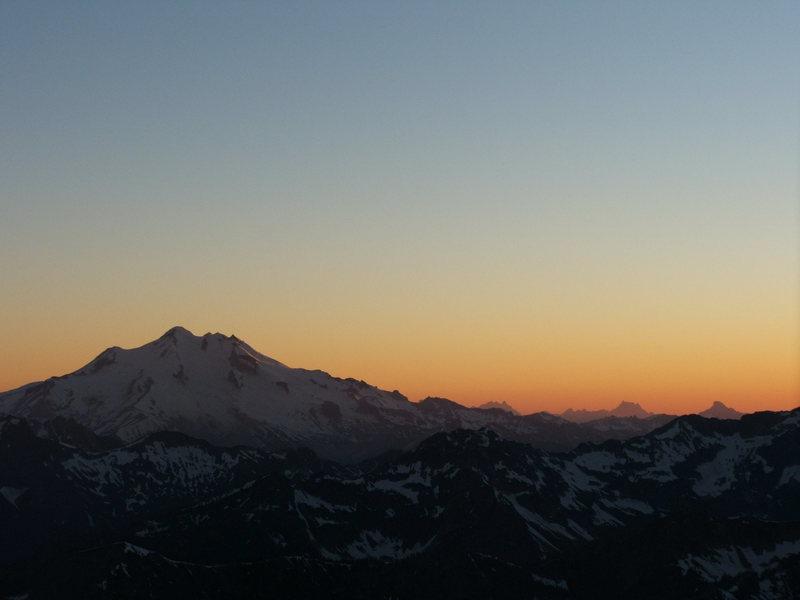 Glacier Peak catches last light