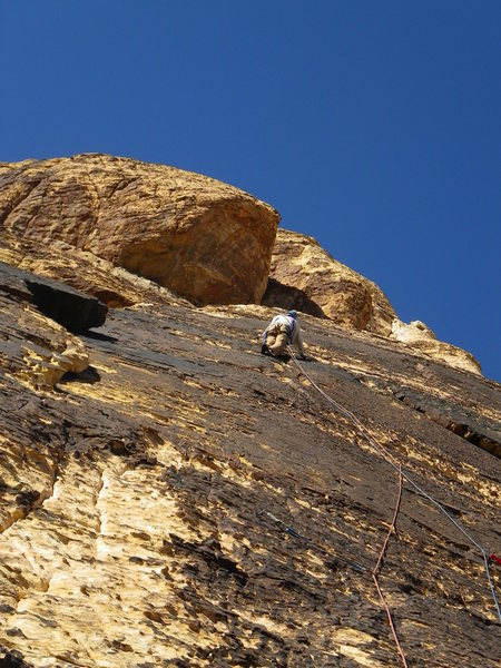 Larry on the beautiful 5th pitch
