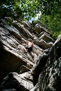 Rock Climbing Photo: Trad climbing on Argo Tower.  Annapolis Rocks, MD