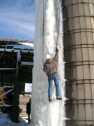 Rock Climbing Photo: The newest ice is very thick this weekend.