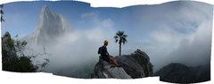 Rock Climbing Photo: estrellita summit, checking out TWZ summit