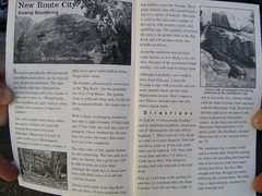 photo of a write up on louisville boulder