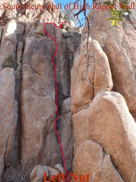 Left Nut right facing crack climb.