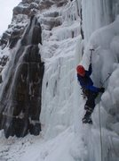 Rock Climbing Photo: some ice action!
