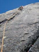 Rock Climbing Photo: Loving the sweet cracks on pitch 3 of Ironman