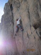 Rock Climbing Photo: Brad Durbin shining on High Tide.