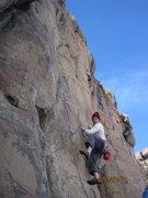 Rock Climbing Photo: Brad Durbin getting low on High Tide.