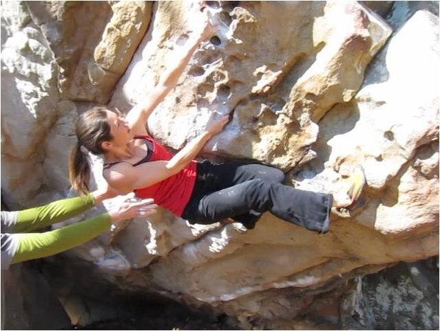 Rock Climbing Photo: Finishing on the pockets.