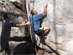 Rock Climbing Photo: Finishing up Cinderella.