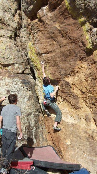 Rock Climbing Photo: Ryan working the V7?