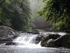 Rock Climbing Photo: The Whitetop Laurel river and a classic Virginia C...