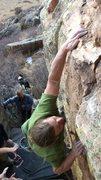 Rock Climbing Photo: Finishing up The Charlie Sheen.