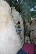 Rock Climbing Photo: Justin getting into the groove on Peppertree Crack...