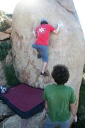 Rock Climbing Photo: Starting out on Pink Bug, V6+