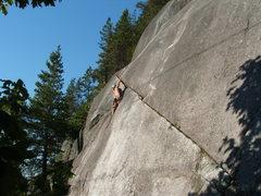 Rock Climbing Photo: Joe at the second crux
