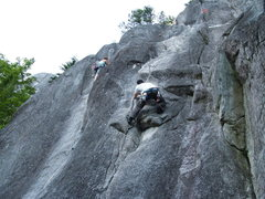 Rock Climbing Photo: Ben cleaning.  On a side note this wall lived up t...