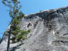 Rock Climbing Photo: Joe leading the way.