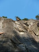 Rock Climbing Photo: Me at anchors to Mosquito, route lived up to it's ...