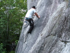 Rock Climbing Photo: Ben cleaning the Mosquito 5.8