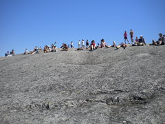 Rock Climbing Photo: Tourists that hiked to the top make up the Cheerin...