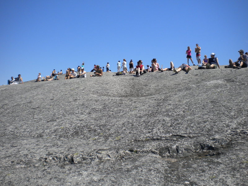 The Cheering section at the top of Raven's Castle comprised of hikers and tourists that occasionally dropped stuff on us :)