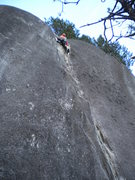 Rock Climbing Photo: Me Leading Phlemish Dance 5.8