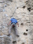 Rock Climbing Photo: Now that is how you use your head