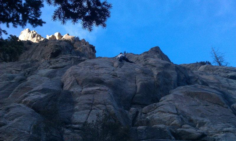 Rock Climbing Photo: climbing in Boulder Canyon