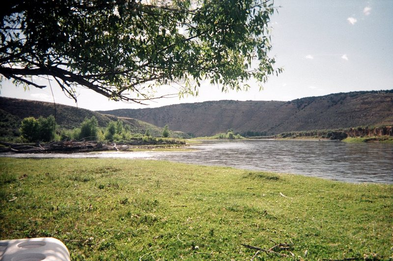 View of Yampa River from tent