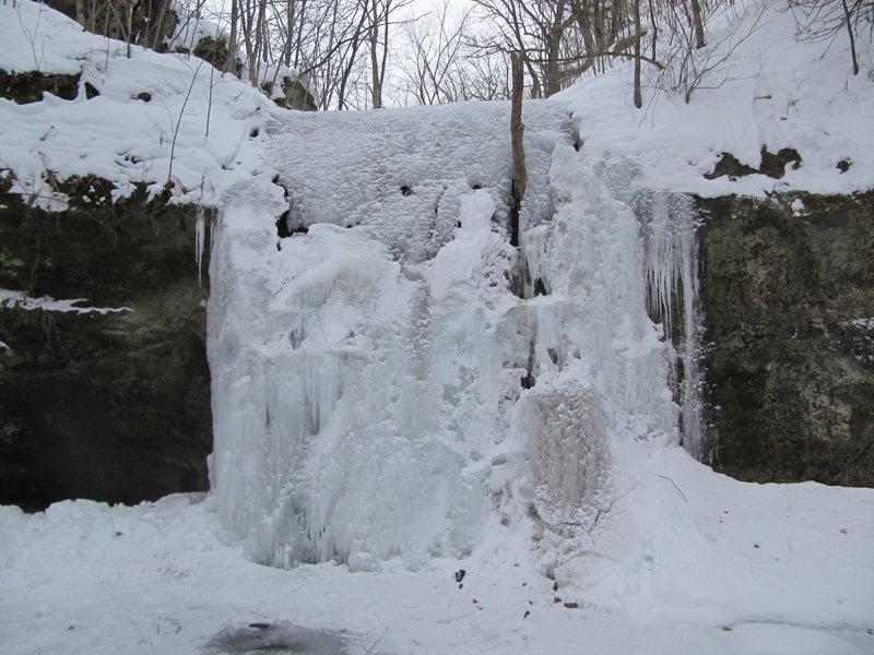 Rock Climbing Photo: Frozen Main Flow