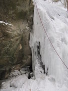 Rock Climbing Photo: About 10 feet of slightly overhanging ice occasion...