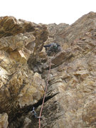 Rock Climbing Photo: Me on pitch 2, or the first pitch of the independe...