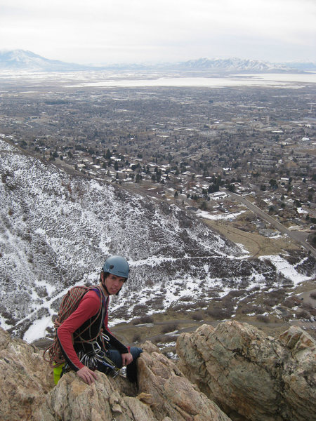 Thomas on top. Mt. Nebo is in the top left of the photo and Utah Lake is in the top right.