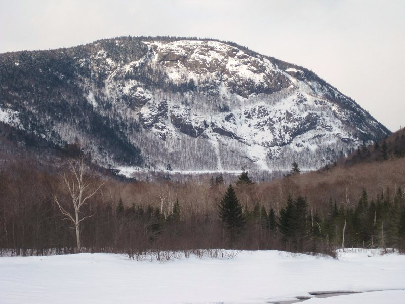 Mt. Willard in February, with a party on Cinema Gulley