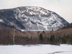 Rock Climbing Photo: Mt. Willard in February, with a party on Cinema Gu...