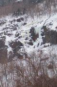 Rock Climbing Photo: Great Madness on Mt. Willard, Crawford Notch