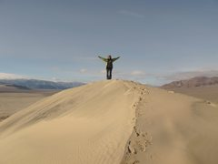 Rock Climbing Photo: Nearing the summit of the Eureka Sand Dunes- possi...