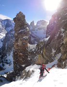 Rock Climbing Photo: View of Wham and Zowie towers with the Sharkstooth...