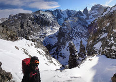 Rock Climbing Photo: View from the summit looking down at Wham and Zowi...