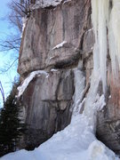Rock Climbing Photo: Pink Funhouse, the mixed line to the left of the i...