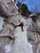 Rock Climbing Photo: Fatter conditions.  It can take 13-17 cm screws.