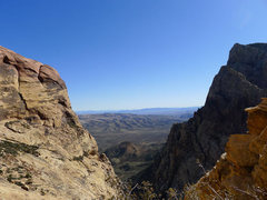 Rock Climbing Photo: looking back down to Wilson Pimple