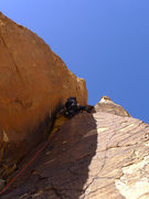 Rock Climbing Photo: through the grovelly part on P3