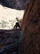 Rock Climbing Photo: approaching the P3 belay