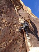 Rock Climbing Photo: starting up P5