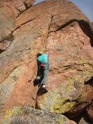 Rock Climbing Photo: FA of Consolation Prize.