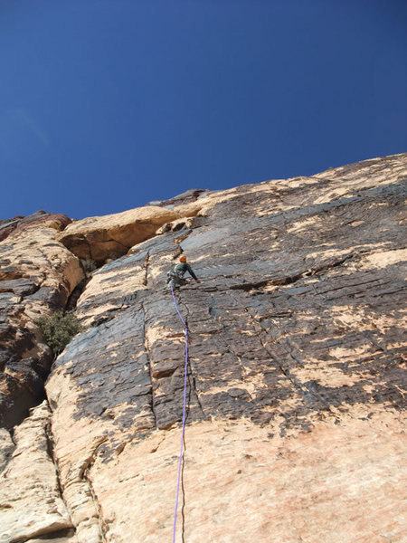 Rock Climbing Photo: Dow on P1