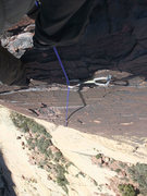 Rock Climbing Photo: At the third bolt on P2.